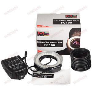 Meike FC-100 LED Macro Ring Flash Light For Canon Nikon Olympus Panasonic US !