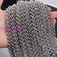 Lot 5/10M Stainless Steel Silver Rolo Chain DIY Finding Jewelry Good Quality New