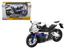 BMW S1000RR White / Red / Blue Motorcycle 1:12 Model  - 31191WH *