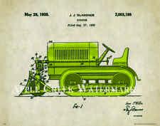 Bull Dozer Patent Art Print Poster Heavy Construction Equipment Freitag PAT342