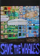 Hundertwasser Save the whales Poster Kunstdruck Bild 84x59cm Kostenloser Versand