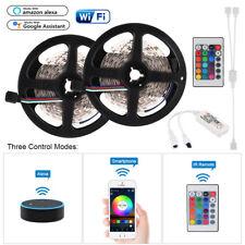 2x LED 5m RGB 5050 Smart Home WiFi Strip Light App Alexa Google Home Ld1561