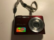 Casio Exilim EX-S880 8.1 Megapixels Red Camera (Untested, Camera and Case Only)