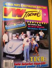 VW TRENDS MAGAZINE MAY 1995 63 DELUXE MICROBUS 56 OVAL WINDOW 49 POLICE HEB