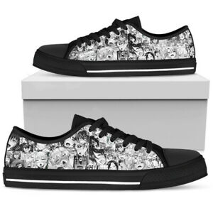 Many Girls Ahegao Men's Low Top Shoes