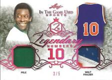 Pele 2019 Legendary Numbers Leaf In the Game Used Jersey Serial Numb 3/5 Brazil