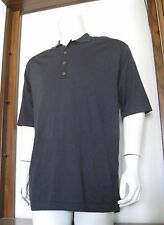 M Men Tommy Bahama Short Sleeve Polo Shirt Dark Gray Silk Nylon Viscose EUC