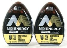 2 Ct MiO 1.62 Oz Energy Caffeine B Vitamins Made With Coffee Iced Vanilla Java