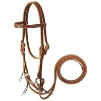 """Weaver Leather Mini Horse Bridle with 3 1/2"""" Bit and Reins, Sunset"""