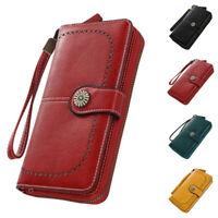 Women Coin Pocket Zipper & Hasp Long Wallets PU Wallet Card Holder Gift Purses