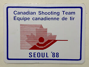 Canadian Shooting Team Seoul 1988 Olympic sticker