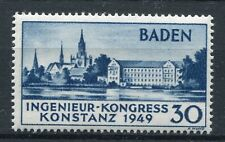 GERMANY FRENCH OCCUPATION ZONE BADEN 1949 CONSTANCE SCOTT 5N41 PERFECT MNH