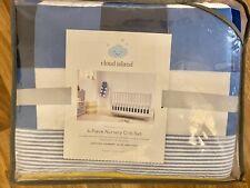 Cloud Island 4Piece Nursery Crib Set Blue White Yellow-Comforter Puppy Dog-Sheet