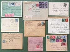 France -Lot-Enveloppes-Affranchissements divers