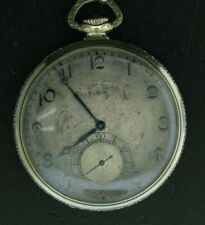 Elgin Streamline Pocket Watch 17 Jewel Adjusted Movement with Chain