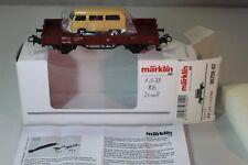 Märklin H0 00759-07 - Niederbordwagen & Schuco VW Bulli T2 beige - rar OVP #812