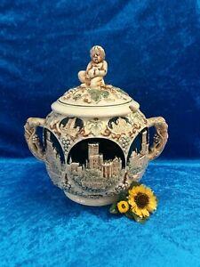 DDR Vintage Keramik Bowle mit Deckel Nr. 3361 #3948