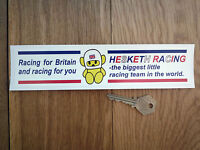 "HESKETH Racing for Britain CAR STICKER 8.5"" Race F1 70's Formula One James Hunt"
