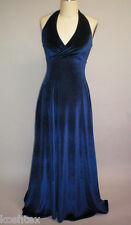 Stretch Velvet Fabric By the Yard Midnight Blue