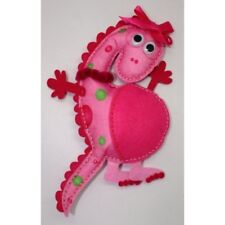 DOCRAFTS CRAFT PLANET STELLAR PINK MAKE A FELT MONSTER TOY SEWING KIT KIDS 6+