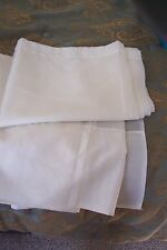 """White Sheer Curtains 2 Panels 59"""" by 82"""""""