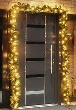 Tannengirlande 500 cm künstlich beleuchtet 80 LED Innen Außen Weihnachten Deko