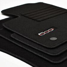 Velours Fußmatten 4-teilig Edition sw für Fiat 500 + 500 Cabrio ab Bj.2013 -