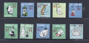 Japan 2018 Moomins Complete Used Set Sc# 4183 a-j 82Y