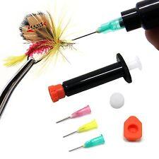 SAMSFX Fly Tying Kit Black UV Epoxy Cure Syringe with 3 Needle Nozzles 5CC / 5ML