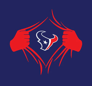 Houston Texans Superman Rip shirt Deshaun Watson Brandin Cooks Mark Ingram