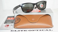 New RAY BAN New Wayfarer Black/Green Classic G15 RB2132 901/58 55 145