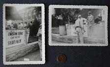 1940s World War II Era conscientious objectors Serviceman's station 2 photo set!