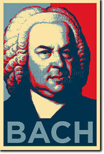 JOHANN SEBASTIAN BACH ART PHOTO PRINT (OBAMA HOPE) POSTER GIFT