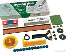 TWEETEN BRAND DELUXE POOL TABLE BILLIARD CUE STICK TIP REPAIR KIT with CHALK