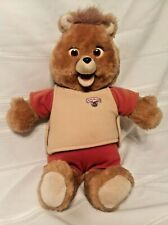"""Vintage 1985 Teddy Ruxpin 19"""" Bear Untested Battery Case Clean #1735 S"""