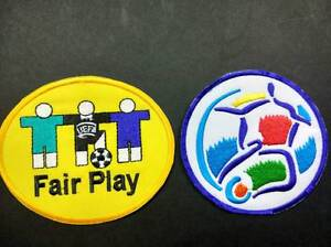 EURO 1996, 2000 and 2004 + FAIR PLAY EMBROIDERY FOOTBALL SOCCER Patches Badges
