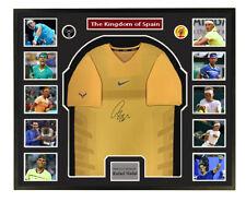 tennis player Rafael Nadal signed autographed jersey shirt COA Framed