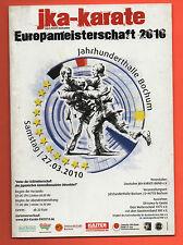 ORIG. complète prg karaté Championnat d'Europe Bochum 2010!!! rare