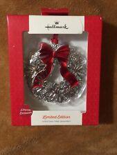 Hallmark LIMITED EDITION Christmas Tree Ornament 2017 Holly Wreath