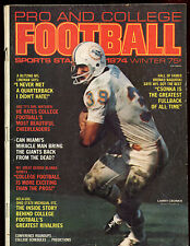 Winter 1974 Pro Football Magazine With Larry Csonka Front Cover VGEX