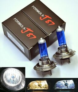 Halogen H7 55W 5000K White Two Bulbs Head Light High Beam Replacement Plug Play
