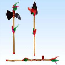 Indianerset Tomahawk Friedenspfeiffe Speer Indianer Waffe Indio Kostüm Waffenset