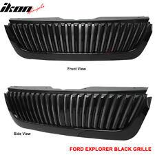 Fits 02-05 Ford Explorer 4DR Vertical Style Black Hood Grille Grill