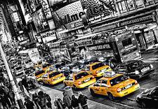 Papel pintado Fotomural blanco y negro ciudad de Nueva York Calles 3.66 X 2.54m