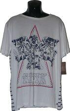 NWT ANTIK DENIM Jeans Tee Shirt studded logo XL stripe men's white designer