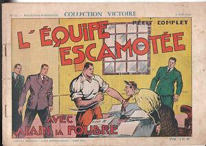 Collection VICTOIRE n°19. Alain la Foudre. 1939.