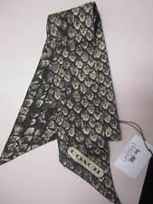 NWT COACH 100%Silk Gunmetal Brown Snake Print  Ponytail Neck Scarf 83980 revers