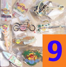 9 Hard Rock Cafe FORT LAUDERDALE PIN LOT Guitar & More COLLECTION LOT GROUP