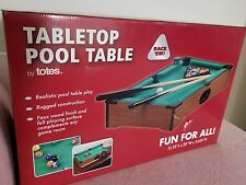 New in Box Tabletop Pool Table by Totes