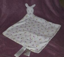 JUST ONE YOU PRECIOUS FIRSTS CARTERS WHITE PURPLE FLOWER RATTLE BUNNY BLANKET